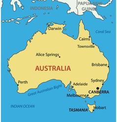 Commonwealth australia - map vector
