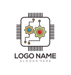 computer logo design and icon vector image