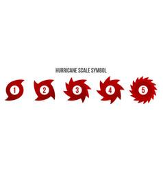 Creative of hurricane scale vector