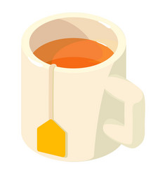cup tea icon isometric 3d style vector image