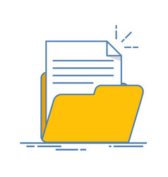 Document in the folder icon paper sheet with vector