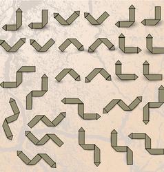 Drawn brown arrows vector image