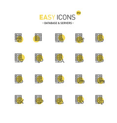 Easy icons 21c database vector