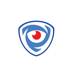 Eye shield monitor logo vector
