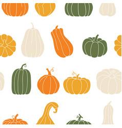 fall print with pumpkins cute autumn seamless vector image