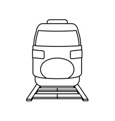 fast train vehicle vector image