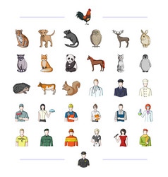 Fauna profession work and other web icon in vector
