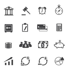 finance and investment icons set vector image