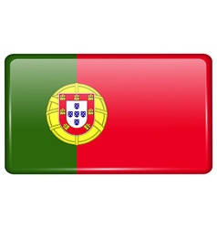 Flags Portugal in the form of a magnet on vector