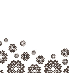 Flower black background vector