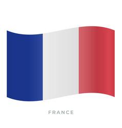 france waving flag icon vector image