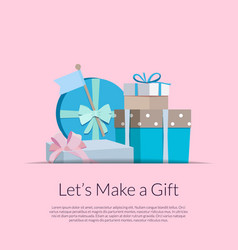 gift boxes or packages pile vector image