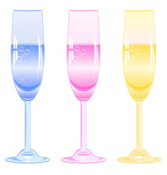 glasses fizzy drink vector image