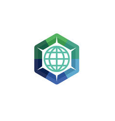 globe share logo vector image