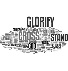 glorify word cloud concept vector image
