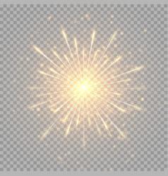 Golden shiny fireworks vector