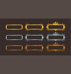 golden silver and bronze frames set vector image