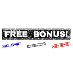 Grunge free bonus exclamation scratched rectangle vector
