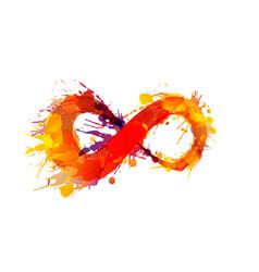 Grunge infinity symbol vector