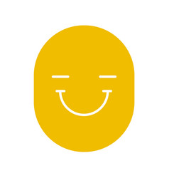 happy and funny smile glyph color icon vector image