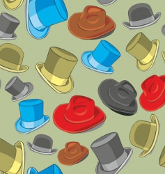 Hats pattern vector