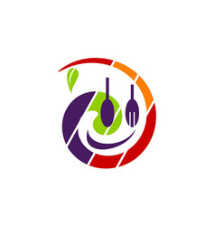 Health food restaurant vector