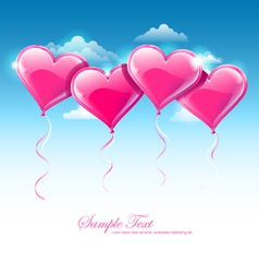 Heart shaped balloons vector image