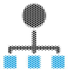 hexagon halftone hierarchy icon vector image