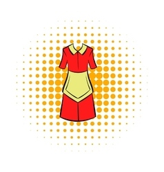 Housewife dress icon comics style vector image
