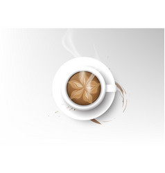 Isolated cup coffee collection mocha vector