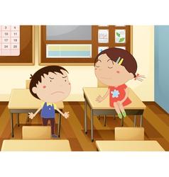Kids at school vector