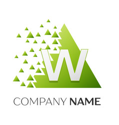 letter w logo symbol in colorful triangle vector image