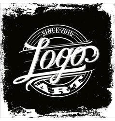 Logo art vintage vector