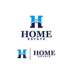 logo home estate on white background vector image