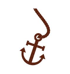 Marine anchor isolated icon vector