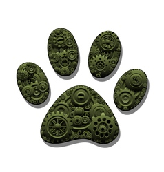 Mechanical paw vector image vector image