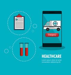 Medicine online flat icons vector