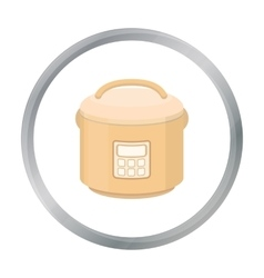 Multicooker icon in cartoon style isolated on vector