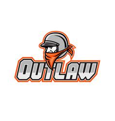 outlaw biker mascot vector image