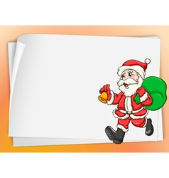 paper sheets and santa vector image