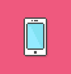 Pixel art phone simple icon vector