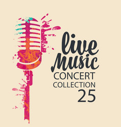 Poster for a live music concert with a microphone vector