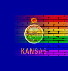 Rainbow wall kansas vector