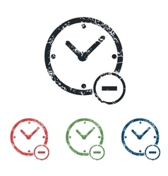 Reduce time grunge icon set vector