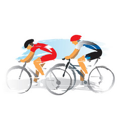 road cyclists racers vector image