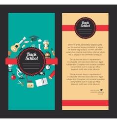 school flat design flyer templates vector image