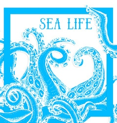 Sea life poster vector image