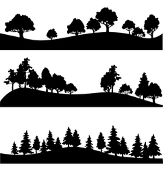 Set different landscape with trees vector