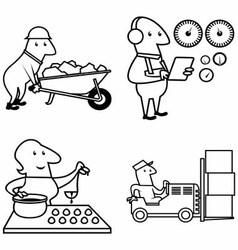 Set profession people work vector