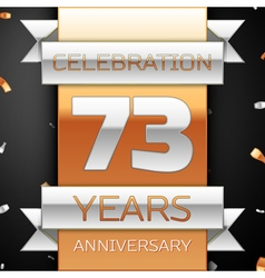 Seventy three years anniversary celebration golden vector